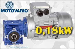 Motoreduktory 0,18 kW NMRV30-U40-0,18kW-moc