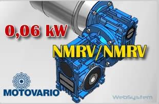 Motoreduktor ślimakowy NMRV040/075-0,06kW-5000/0,3