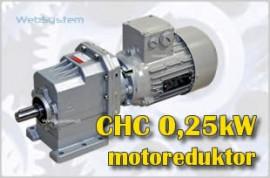 Motoreduktor walcowy 0,25kW CHC20-P-7,7-P-250W